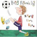 父の日 二つ折りカード サッカー