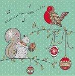 日本未入荷 クリスマスカード Folk