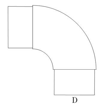 プレスエルボ90°150φ ガルバリウム イメージ2