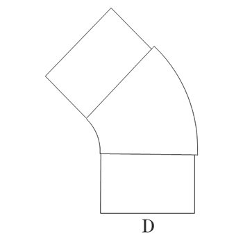 プレスエルボ45°100φ ステンレス イメージ2