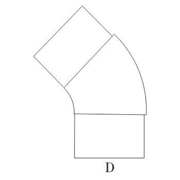 プレスエルボ45°100φ 塩ビ鋼板 イメージ2