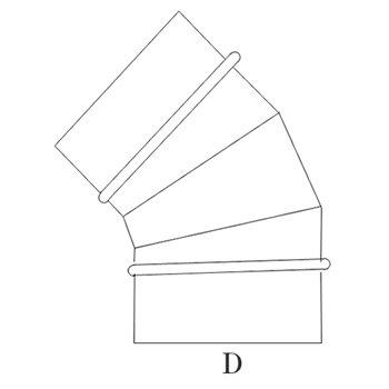 ハゼエルボ45°225φ ガルバリウム イメージ2