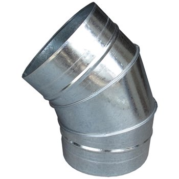 ハゼエルボ45°300φ ガルバリウム イメージ1