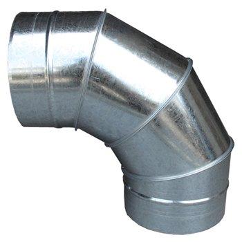 ハゼエルボ90°350φ ガルバリウム イメージ1