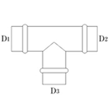 T管 250φ(D1・D2) 250φ(D3) 亜鉛 イメージ2
