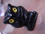 オブシディアン 手彫り「フクロウ」
