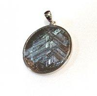 メテオライト(隕石)×ペンダントトップ[裏面にはさりげなく 六芒星が]1