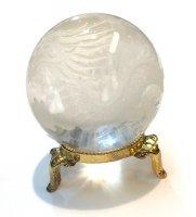ヒマラヤ水晶×丸玉[龍の彫り入り]1