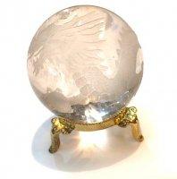 ヒマラヤ水晶×丸玉[龍の彫り入り]2