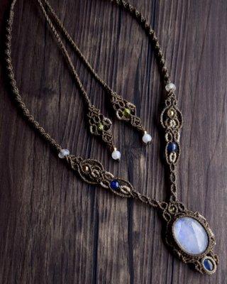 ムーンストーン+カイヤナイト/ネックレス