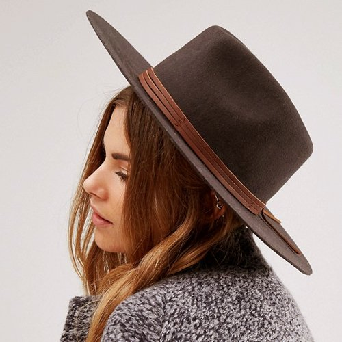 BRIXTON #DROVER HAT -BROWN (Women's)