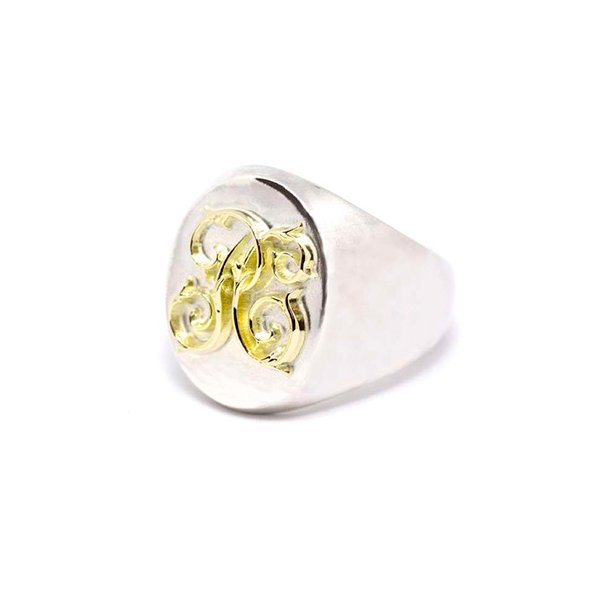 PEANUTS & Co. #Signet Ring -K18×silver Large