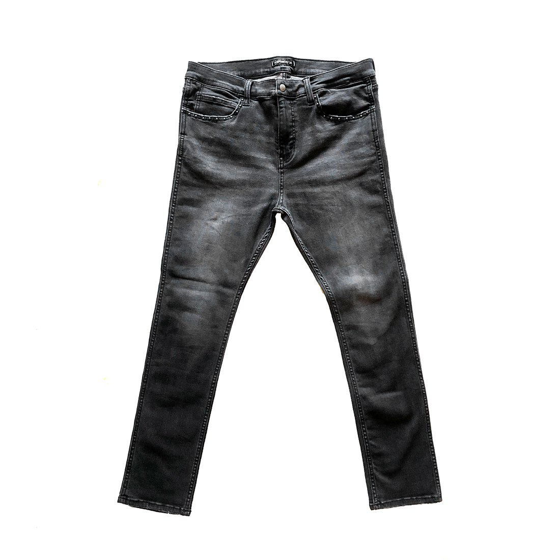 CAPTAINS HELM #NARROW ST BLACK DENIM PANTS -CUSTOM