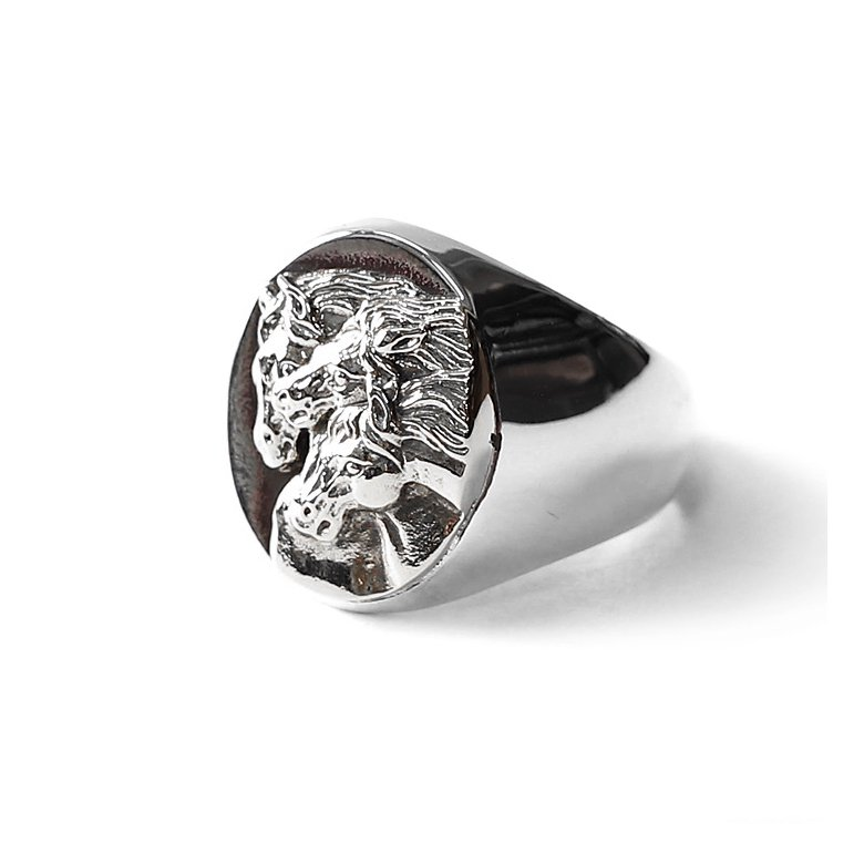 PEANUTS & Co. #PHARAOHS HORSES RING - OVAL L(All Silver)