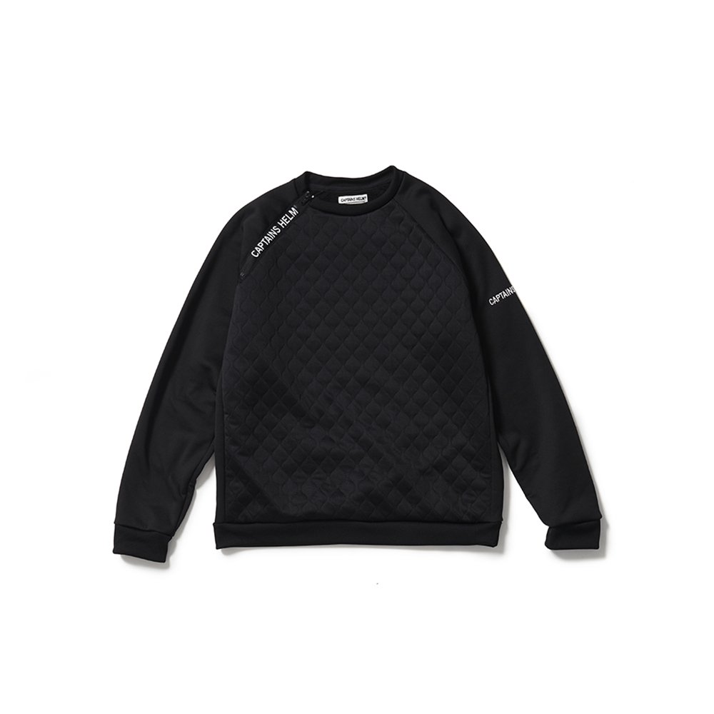 CAPTAINS HELM #QUILTED TEC SWEAT