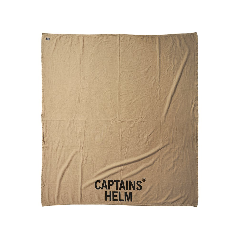 CAPTAINS HELM #TRADEMARK LOGO COTTON BLANKET