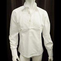 MONTESARO 【モンテサーロ】 フレスコ・ワイドスプレットカラー・プルオーバーシャツ (ホワイト)