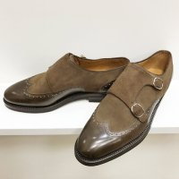 Enzo Bonafe 【エンツォ・ボナフェ】 『3918』 PEWTER+SUPERBUCK OLIVE BALL ウィングチップダブルモンク<img class='new_mark_img2' src='https://img.shop-pro.jp/img/new/icons41.gif' style='border:none;display:inline;margin:0px;padding:0px;width:auto;' />