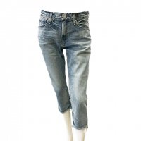 upper hights 【アッパーハイツ】 『THE RAGGED』 クロップドレングス・裾ダメージ処理ジーンズ (Ragged Bubbles)<img class='new_mark_img2' src='https://img.shop-pro.jp/img/new/icons41.gif' style='border:none;display:inline;margin:0px;padding:0px;width:auto;' />