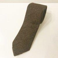 LUIGI BORRELLI 【ルイジ・ボレッリ】 『Royal Collection』カシミアヘリンボーンタイ 8.5�幅(Brown)