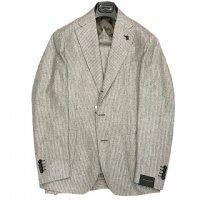 PARTHENOPE napoli 【パルテノペ・ナポリ】 『CAPRI』 ウールフランネル段返3Bシングル・スーツ (Grey Stripe)