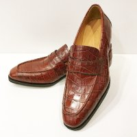 Agnelli & Sons 【アニエッリ・アンド・サンズ】 クロコダイルエンボス・コインローファー (Rosso Marrone)<img class='new_mark_img2' src='https://img.shop-pro.jp/img/new/icons41.gif' style='border:none;display:inline;margin:0px;padding:0px;width:auto;' />