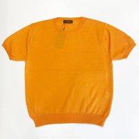Vandori 【ヴァンドリ】 『リビエラ』ドライタッチ・コットン・クルーネック (Orange)