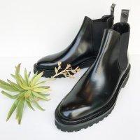 WH 【ダブルエイチ】 当店別注アノネイ社ボカルーカーフ・サイドエラスティックブーツ (BLACK)