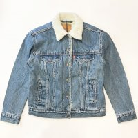 Levi's PREMIUM【リーバイス・プレミアム】 『Ex&#8209;boyfriend Sherpa Trucker Jacket』 ボアライニング・ボーイズトラッカージャケット(Stone <img class='new_mark_img2' src='https://img.shop-pro.jp/img/new/icons41.gif' style='border:none;display:inline;margin:0px;padding:0px;width:auto;' />