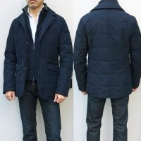 ANGELO NARDELLI 【アンジェロ・ナルデッリ】 コンバーチブルフロント・ダウンジャケット (Navy)<img class='new_mark_img2' src='https://img.shop-pro.jp/img/new/icons41.gif' style='border:none;display:inline;margin:0px;padding:0px;width:auto;' />