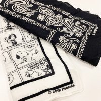 Levi's 【リーバイス】 『RED TAB® SNOOPY』 2 PACK BANDANA (White&Navy)