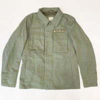 M.I.D.A 【ミダ】 『Lennon Coupe』 M193204 MILITARY SHIRT シャツジャケット(L.Olive)