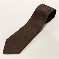 LUIGI BORRELLI 【ルイジ・ボレッリ】 シルクツィル・ソリッドタイ 8.5�幅(Dark Brown)