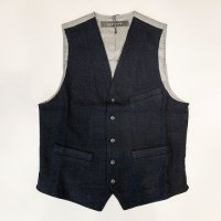 NICWAVE 【ニックウェーブ】『Gilet Anquetil』ウールホップサック・ベスト(ジレ)(Blu)<img class='new_mark_img2' src='https://img.shop-pro.jp/img/new/icons41.gif' style='border:none;display:inline;margin:0px;padding:0px;width:auto;' />