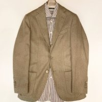 Santaniello 【サンタニエッロ】 四者混紡ヘリンボーン・テーラードジャケット (Brown)<img class='new_mark_img2' src='https://img.shop-pro.jp/img/new/icons41.gif' style='border:none;display:inline;margin:0px;padding:0px;width:auto;' />