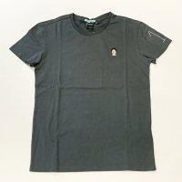 HOMEWARD 【ホームワード】 『T-shirt Fabric Dye』 マラドーナ刺繍ラウンドネックTシャツ (Used Navy)