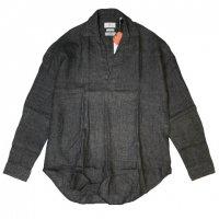 COLONY CLOTHING【コロニー・クロージング】Albini社製リネン・プルオーバーシャツ (Gray)