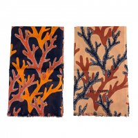 nice things (Paloma S) 【ナイス・シングス】『Corals Print Scarf』 Hand made print コーラルモチーフ・スカーフ (全2色)<img class='new_mark_img2' src='https://img.shop-pro.jp/img/new/icons41.gif' style='border:none;display:inline;margin:0px;padding:0px;width:auto;' />