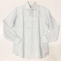 CORDONE 1956【コルドネ1956】 リネン・ワイドスプレットカラーシャツ (Oasis)