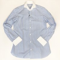 Fralbo 【フラルボ】 『CLASSIC』ワイドスプレット・ダブルカフス・クレリックシャツ (Light Blue)<img class='new_mark_img2' src='https://img.shop-pro.jp/img/new/icons41.gif' style='border:none;display:inline;margin:0px;padding:0px;width:auto;' />