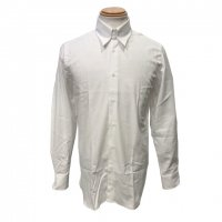 GUY ROVER 【ギ・ローバー】 コットンヘリンボーン・タブカラーシャツ (White)