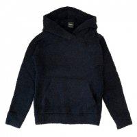 BAFY 【バフィ】 アルパカ混紡ブークレ・フーディー・プルオーバー (Navy)
