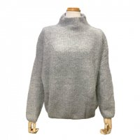 SUNCOO 【サンクー】 『PULL PASQUIN』 ルーズフィット・ボトルネックニットプルオーバー(Gris Chine)<img class='new_mark_img2' src='https://img.shop-pro.jp/img/new/icons41.gif' style='border:none;display:inline;margin:0px;padding:0px;width:auto;' />