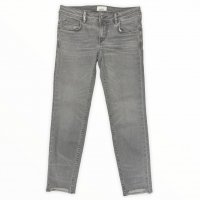 haikure 【アイキュー】 『VICTORIA』 Skinny Crop Comfort KATE (Grey Denim 8YUSED)
