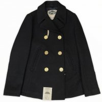 CAMPLIN 【カンプリン】 『MISS NAVY』 Rain Wool採用ピーコート (Black Navy - Gold Medal)