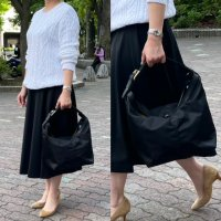 Felisi 【フェリージ】 HAND BAG 03/58/DS+OS34 ナイロン・ホーボーバッグ (Black)
