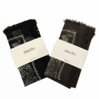 destin 【デスティン】 バンダナモチーフ・シルクウール混紡スカーフ(全2色)