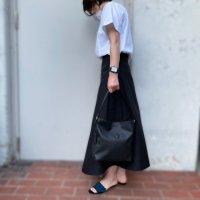 Felisi 【フェリージ】 PVC加工コーティングツィル・サフィアーノ・ハンドバッグ (Nero/Black)
