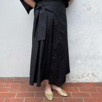 BARBA【バルバ】 コットンポプリン・レイヤーラップスカート (Black)