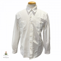 "GUY ROVER × FORTELA 【ギ・ローバー×フォルテラ】 ""GUY SANTA MONICA 25"" オックス・ワークシャツ (White)"